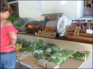 Organic veggie market